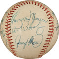Autographs:Baseballs, 1973 New York Yankees Team Signed Baseball....
