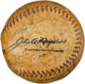 Autographs:Baseballs, 1929 Boston Braves Team Signed Baseball with George Sisler....