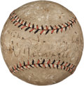 Autographs:Baseballs, 1921 Rabbit Maranville Single Signed Baseball....