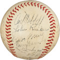Autographs:Baseballs, 1941 New York Giants Team Signed Baseball....