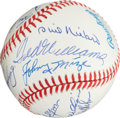 Autographs:Baseballs, Late 1980's Hall of Famers Multi-Signed Baseball....