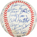 Autographs:Baseballs, 1980's Old Timer's Game Multi-Signed Baseball with Billy Martin,George Steinbrenner....