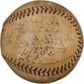 Autographs:Baseballs, 1933 New York Giants Team Signed Baseball.. ...