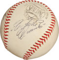 Autographs:Baseballs, 1970 Roberto Clemente & Willie Stargell Dual-Signed BaseballUsed in First Game at Three Rivers Stadium....
