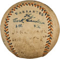 Autographs:Baseballs, 1912 Boston Red Sox Team Signed Baseball....
