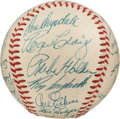 Autographs:Baseballs, 1956 Brooklyn Dodgers Team Signed Baseball, PSA/DNA NM+ 7.5....