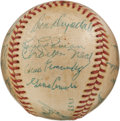 Autographs:Baseballs, 1955 Montreal Royals Team Signed Baseball with Drysdale,Lasorda....