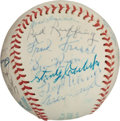 Autographs:Baseballs, 1971 Hall of Fame Induction Ceremonies Multi-Signed Baseball....
