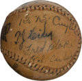 Autographs:Baseballs, 1929 Chicago Cubs & St. Louis Cardinals Signed Baseball....