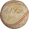 Autographs:Baseballs, 1934 Hall of Famers Multi-Signed Baseball with Ruth, Gehrig....