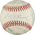 Autographs:Baseballs, 1960's Hall of Famers Multi-Signed Baseball with JackieRobinson....