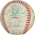 Autographs:Baseballs, 1973 New York Yankees Partial Team Signed Baseball with Munson....