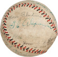 Autographs:Baseballs, 1932 House of David Team Signed Baseball with Grover Cleveland Alexander....