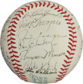 Autographs:Baseballs, 1972 New York Yankees Team Signed Baseball, PSA/DNA EX-MT+ 6.5....
