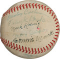 Autographs:Baseballs, Circa 1950 Hall of Famers Multi-Signed Baseball....