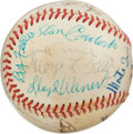 Autographs:Baseballs, 1970's Hall of Famers Multi-Signed Baseball....
