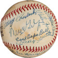 Autographs:Baseballs, 1974 Hall of Famers Multi-Signed Baseball with Mantle, Ford....