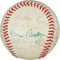 Autographs:Baseballs, Circa 1970 Old Timers Day Multi-Signed Baseball with Stengel, Koufax....