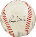 Autographs:Baseballs, Circa 1980 Mickey Mantle, Whitey Ford & Roger Maris SignedBaseball....