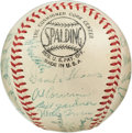 Autographs:Baseballs, 1954 New York Giants Team Signed Baseball....