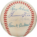 "Autographs:Baseballs, 1959 Kansas City ""Zack Wheat Day"" Baseball Signed by Nine Hall ofFamers...."