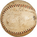 Autographs:Baseballs, 1927 New York Giants Team Signed Baseball with John McGraw and MelOtt....