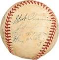 Autographs:Baseballs, 1952 New York Yankees Partial Signed Baseball....