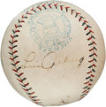 Autographs:Baseballs, Early 1930's Babe Ruth & Lou Gehrig Signed Baseball, PSA EX-MT+6.5....