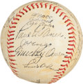 Autographs:Baseballs, 1943 Brooklyn Dodgers Partial Team Signed Baseball....