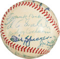Autographs:Baseballs, 1955 Hall of Fame Induction Ceremonies Signed Baseball With Cy Young....