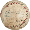 Autographs:Baseballs, 1930 Philadelphia Athletics Team Signed Baseball....