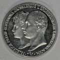 German Lots: , German Lots: Two Mark pair as follows: Mecklenburg-Schwerin 2 Mark 1904, Wedding Commemorative, KM333, Proof with a few light hairlines; ... (Total: 2 Coins Item)