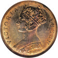 Hong Kong: , Hong Kong: Victoria Cent 1866, KM4.1, Proof 65 Red & Brown NGC, gorgeous reflective surfaces with abundant mint brilliance, highly attr...