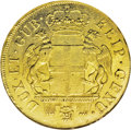 Italy: , Italy: Genoa. Gold 96 Lire 1797, KM251.2, F-444, AU55 NGC. Normalrather flat strike with considerable remaining luster....