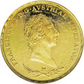 Italy: , Italy: Lombardy-Venetia. Franz I gold Sovrano 1831M, KM-C11.1, MS63NGC. Fully brilliant, with prooflike field, light abrasions, an...