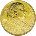 Italy: , Italy: Vatican. Pius XI gold 100 Lire 1930 Year IX, KM-Y9, MS64NGC. Full luster with light obverse marks. A very scarce issue....