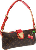 Luxury Accessories:Bags, Louis Vuitton Monogram Cerises Collection with Red Lizard TrimPochette Show Bag. ...
