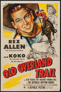 "Old Overland Trail (Republic, 1953). One Sheet (27"" X 41""). Western"