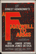 "Movie Posters:War, A Farewell to Arms (20th Century Fox, 1958). One Sheet (27"" X 41"").War.. ..."