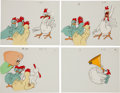 Animation Art:Limited Edition Cel, Chicken Production Cel Animation Art Group (1960-70).... (Total: 46 Original Art)
