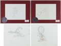 animation art:Production Drawing, Pink Panther and Nestle Quick Production DrawingAnimation Art Group (Filmation, undated).... (Total: 6 OriginalArt)