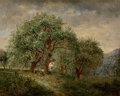 Fine Art - Painting, American:Antique  (Pre 1900), DAVID JOHNSON (American, 1827-1908). Spring Time, Dec. 1886.Oil on panel. 10 x 12-1/4 inches (25.4 x 31.1 cm). Signed, ...