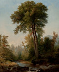 American:Hudson River School, ASHER BROWN DURAND (American, 1796-1886). A Natural Monarch,1853. Oil on canvas. 23 x 18-1/2 inches (58.4 x 47.0 cm). S...(Total: 2 Items)