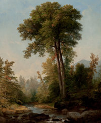 ASHER BROWN DURAND (American, 1796-1886) A Natural Monarch, 1853 Oil on canvas 23 x 18-1/2 inches