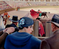 Fine Art - Painting, American:Modern  (1900 1949)  , EDNA REINDEL (American, 1894-1990). The Bull Fight, circa1936. Oil on canvas. 25 x 30-1/4 inches (63.5 x 76.8 cm). Sign...