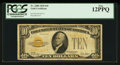 Small Size:Gold Certificates, Fr. 2400 $10 1928 Gold Certificate. PCGS Fine 12PPQ.. ...