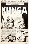 "Original Comic Art:Complete Story, Gene Colan Journey Into Mystery #81 Complete 5-Page Story""Kunga"" Original Art (Marvel, 1962)...."