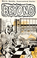 Original Comic Art:Covers, John Chilly The Beyond #16 Cover Original Art (Ace,1952)....