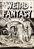 "Original Comic Art:Covers, Al Feldstein Weird Fantasy #8 ""The Slave Ship"" CoverOriginal Art (EC, 1951)...."