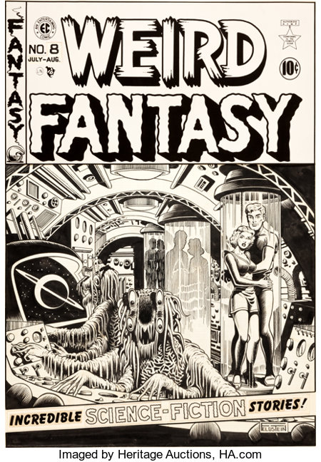 "Al Feldstein Weird Fantasy #8 ""The Slave Ship"" Cover Original Art (EC, 1951)...."